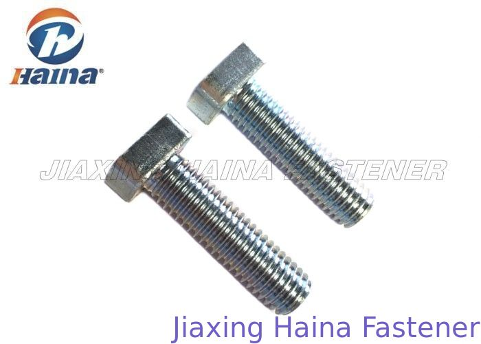 Metric T Bolts Custom Fasteners White Blue Color Cold Heading For Structural Steel