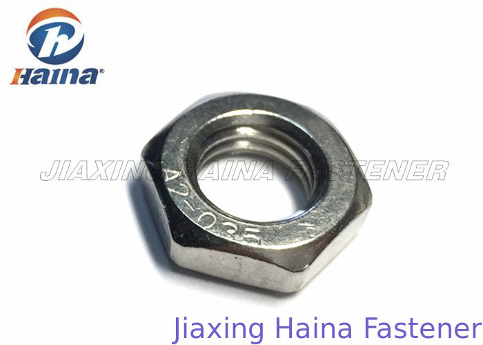 Stainless Steel Hex Nuts SS304 SS316 , Hexagon Thin Nuts Chrome Plated DIN 936