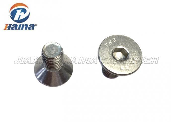 A4 80 Stainless Steel Cap Screws DIN 7991 , Hexagon Socket Countersunk Machine Screws