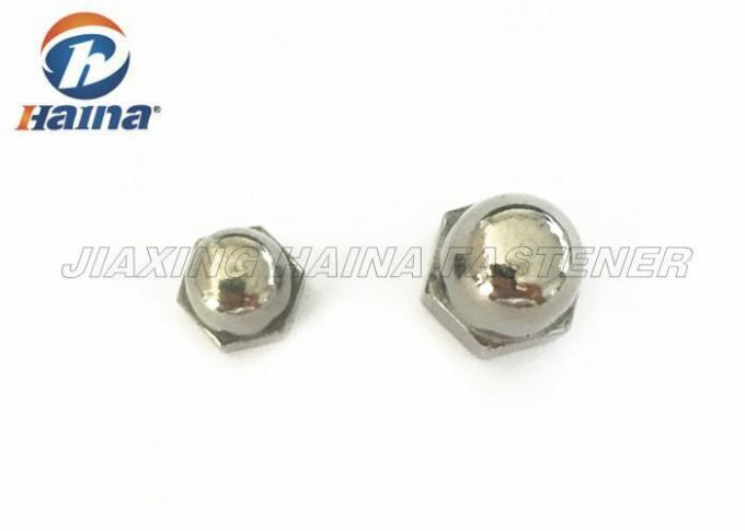 Construction Stainless Steel Nuts With Hexagon Domed Cap M8 M10 Standard DIN1587