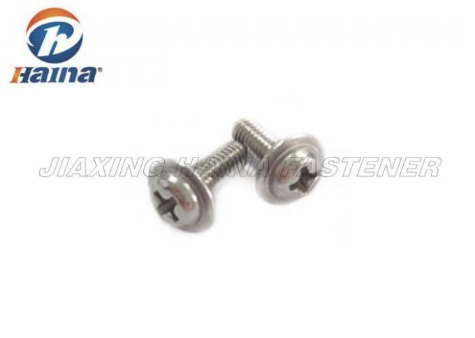 30mm Length Stainless Steel Machine Screws Cross Recessed Pan Head With Collar