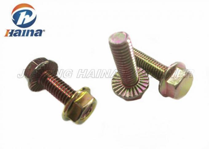 "Color Zinc Plated Hex Head Flange Bolt With Nut 5/16""-18 X 1"" Car Accessories"